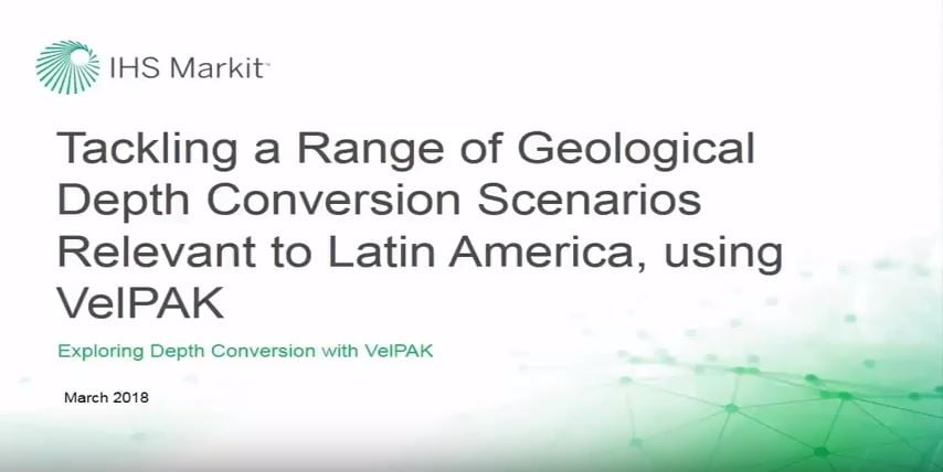 Using VelPAK/Velit to tackle a range of geological scenarios relevant to Latin America